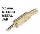 3,5 MM STEREO METAL JAK STEREO