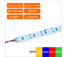 12 Volt 4014 Alüminyum 144 Bar Led 36 Watt